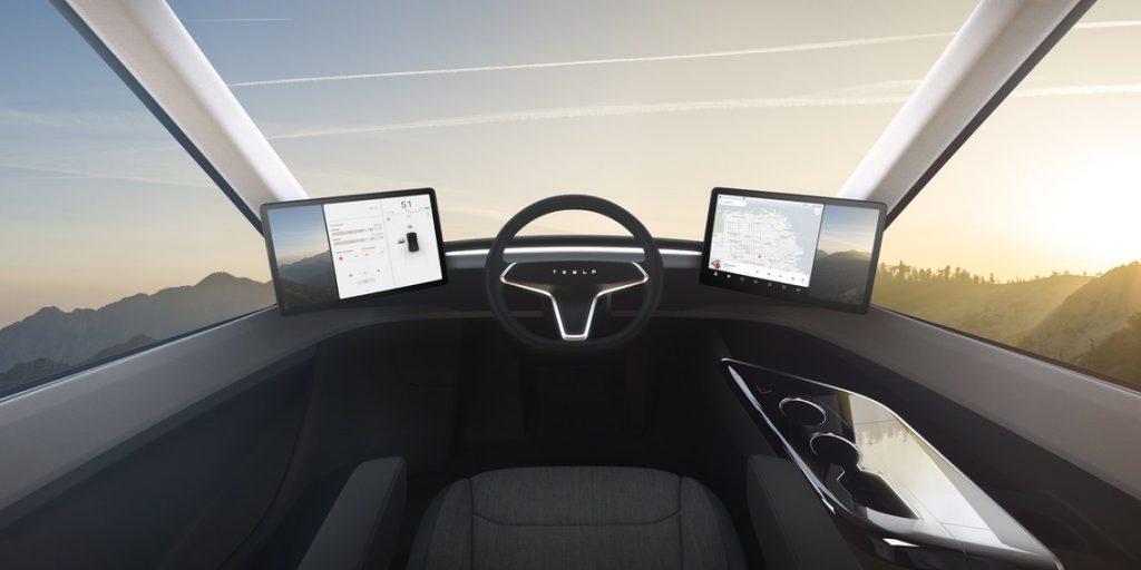 Cabine do SemiTruck Tesla